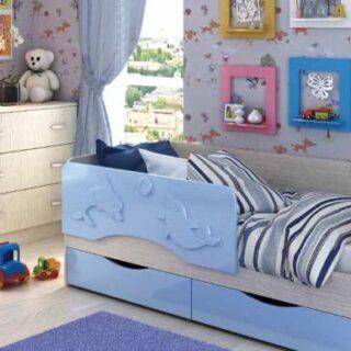 Детская кровать Дельфин (80х180 см)
