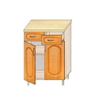 Кухонный стол МДФ 60см. с дверьми и 2-мя ящиками
