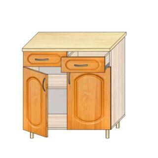 Кухонный стол МДФ 80см. 2 ящика