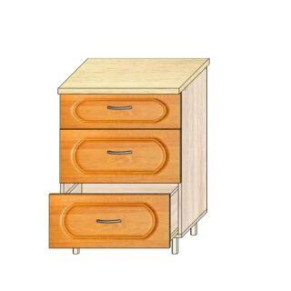 Кухонный стол МДФ 60см. 3 ящика