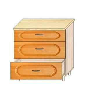 Кухонный стол МДФ 80см. 3 ящика