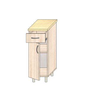 ТР 3.4 ящ и дв 300, Кухонный стол 30см. С дверью и ящиком