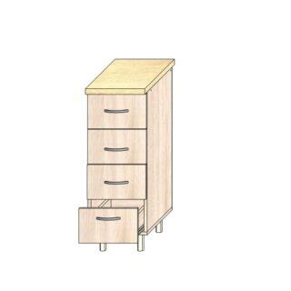 Кухонный стол 30см. 4 ящика