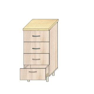 Кухонный стол 40см. 4 ящика
