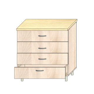 Кухонный стол 80см. 4 ящика