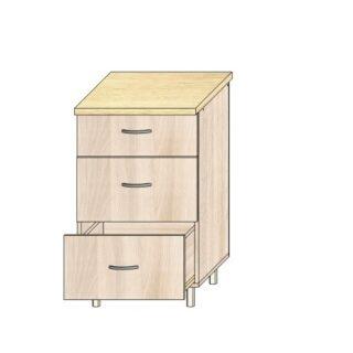 Кухонный стол 50см. 3 ящика