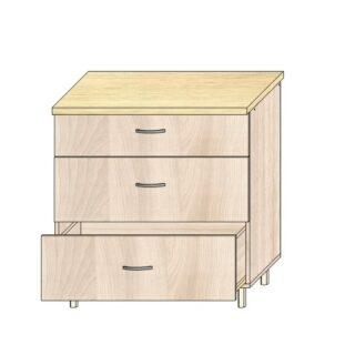 ТР 3.7 3 ящ 800, Кухонный стол 80см. 3 ящика