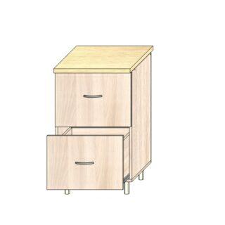 Кухонный стол 50см. 2 ящика