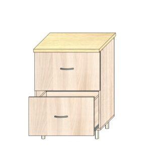 ТР 3.8 2 ящ 600, Кухонный стол 60см. 2 ящика