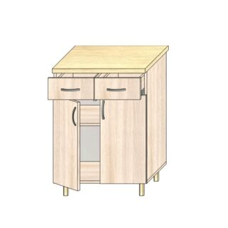 ТР 3.9 2 ящ и 2 дв 600, Кухонный стол 60см. с дверьми и 2-мя ящиками