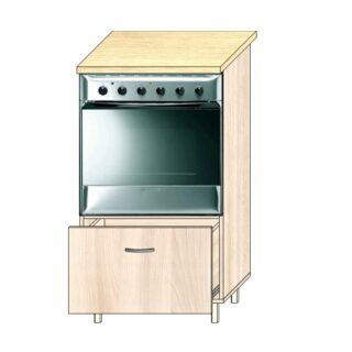 ТР 4.3 под техн 600*1100, Кухонный стол под технику 60см. Пенал