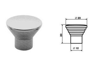 Ручка кнопка Хром сатинированный RС08SC