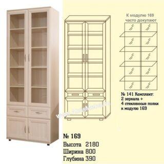 №169 Шкаф для книг со стеклом