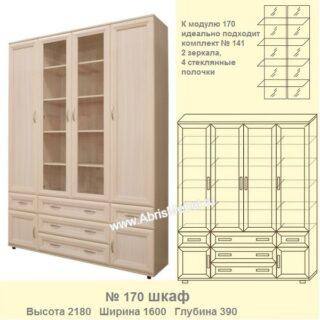 №170 Шкаф для книг со стеклом