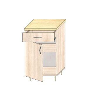 ТР 3.4 ящ и дв 500, Кухонный стол 50см. С дверью и ящиком