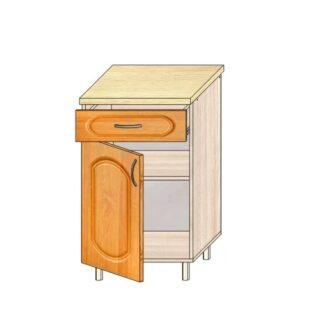 Кухонный стол МДФ 50см. С дверью и ящиком