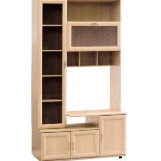 Шкаф/стойка ТВ (рифленое стекло) Мод №151, 39/59х120х218 см