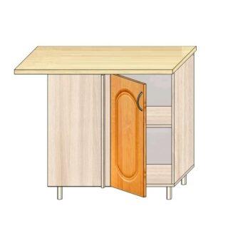 Кухонный стол угловой МДФ 100см. Проходной