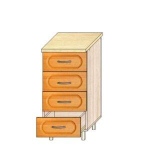 Кухонный стол МДФ 40см. 4 ящика