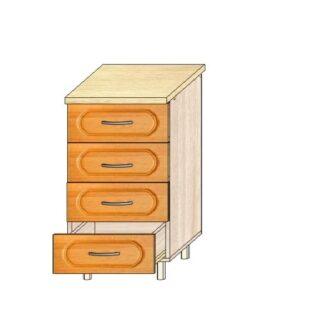 Кухонный стол МДФ 50см. 4 ящика