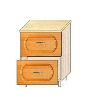 Кухонный стол МДФ 60см. 2 ящика