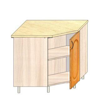 Кухонный стол угловой МДФ 90х90см.