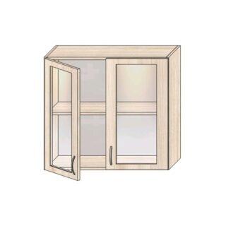 ШН 1.6 стекло 800, Кухонная полка навесная 80см. Витрина
