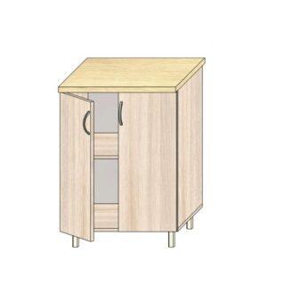 Кухонный стол 60см. С дверьми