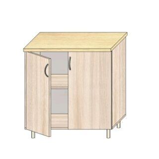 Кухонный стол 80см. С дверьми