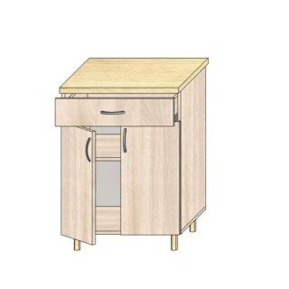 Кухонный стол 60см. С дверьми и ящиком