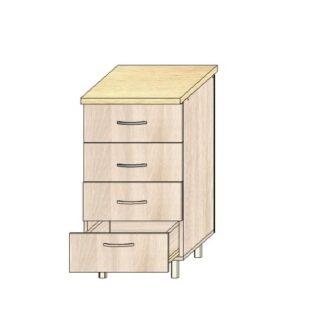 Кухонный стол 50см. 4 ящика