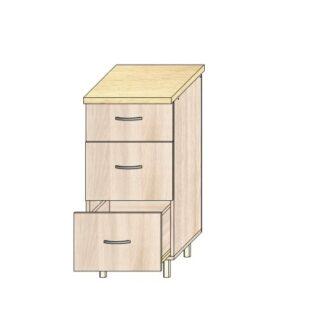 Кухонный стол 40см. 3 ящика