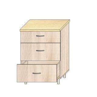 Кухонный стол 60см. 3 ящика