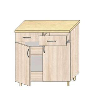 Кухонный стол 80см. с дверьми и 2-мя ящиками