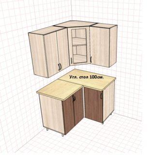 Кухонный стол угловой 100см. Проходной