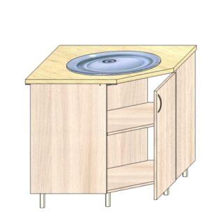 Кухонный стол под мойку угловой 90х90см.