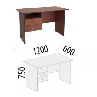 Рубин. Стол 1200х600х750 с ящиками лев/прав