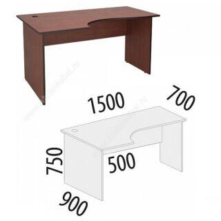 Рубин. Стол угловой 1500х900х750 левый