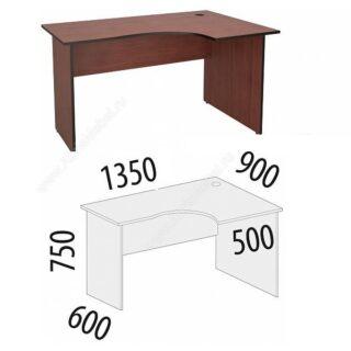 Рубин. Стол угловой 1350х900х750 правый