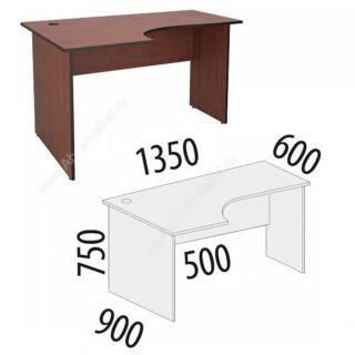 Рубин. Стол угловой 1350х900х750 левый